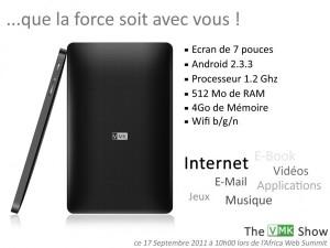 La tablette de VMK